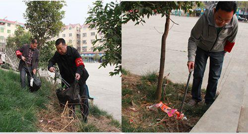 党员志愿者齐上阵清除垃圾美化家园
